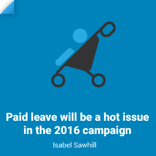 Isabel Sawhill: Paid leave will be a hot issue in the 2016 campaign